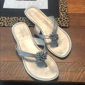 Silver sandals great condition
